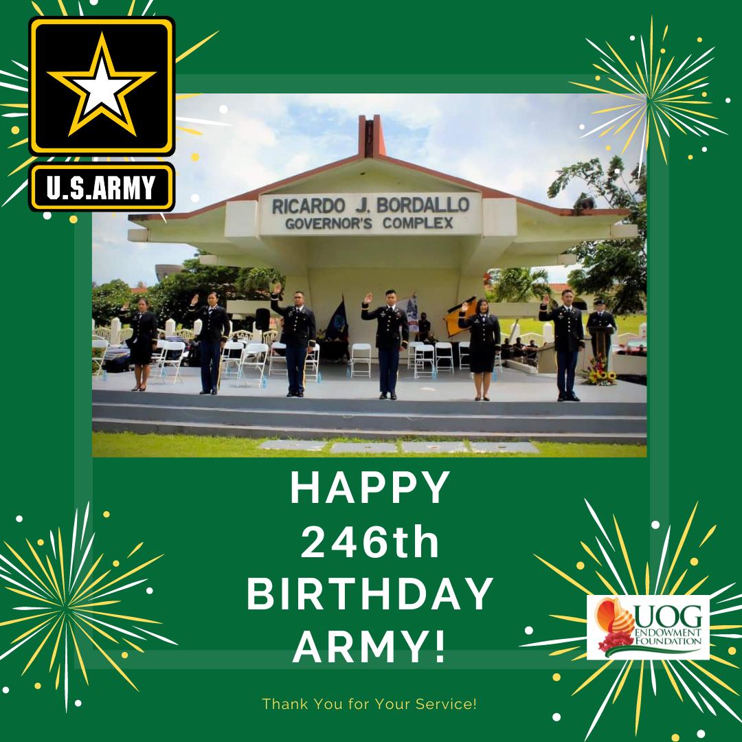 Happy 246th Birthday U.S. Army!